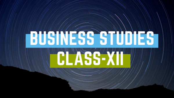 Class XII - Business Studies cover