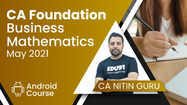 CA Foundation Business Mathematics for May 2021   Mobile App cover
