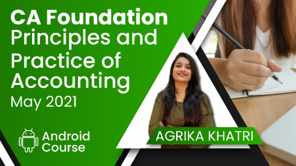 CA Foundation Principles and Practice of Accounting May 2021   Mobile App cover