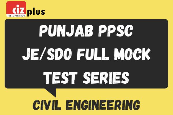 Punjab PPSC JE Full Mock Test Series cover