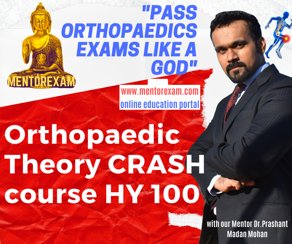 DNB MS Orthopaedics Theory Crash Course 100 High yield Topics cover
