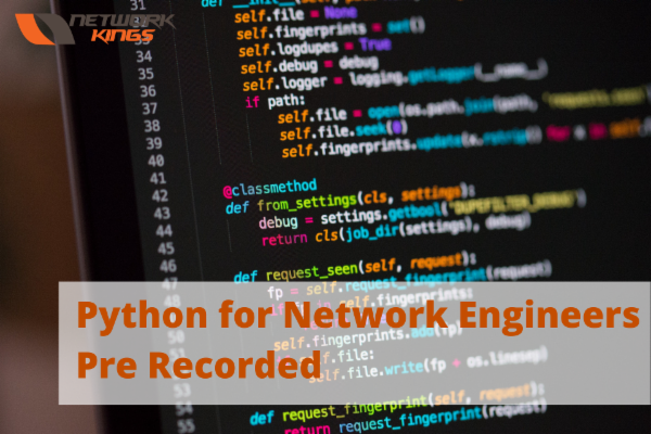 Python for Network Engineers Pre Recorded cover