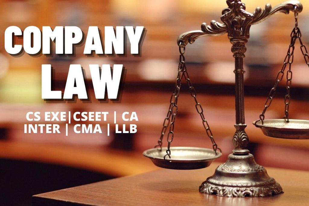 Company Law Chapter I cover