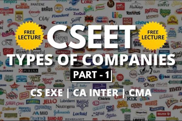 Types Of Companies cover