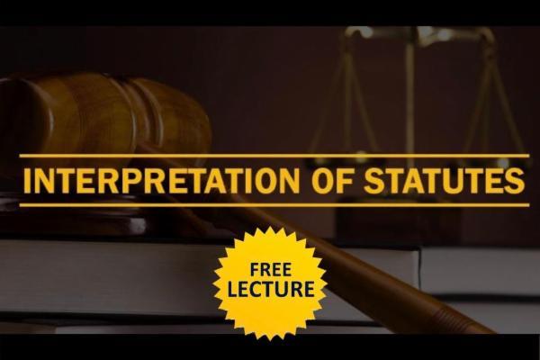 Interpretation of Statutes cover