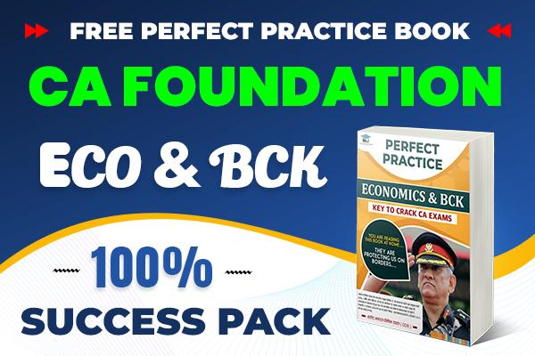 Economics & BCK Combo Pack : CA Foundation cover