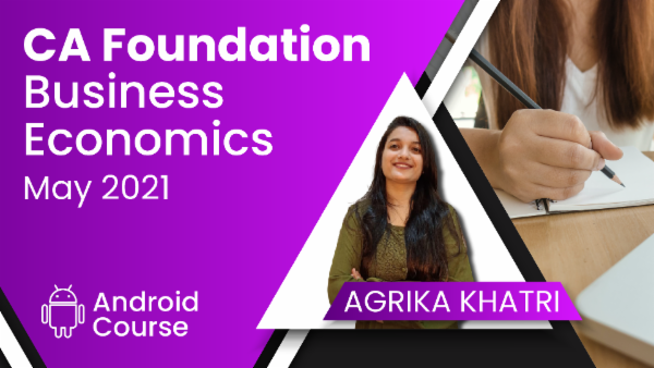 CA Foundation Business Economics May 2021   Mobile App cover