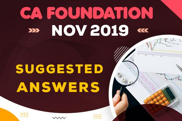 CA Foundation : Nov 2019 Question Paper & Suggested Answers cover