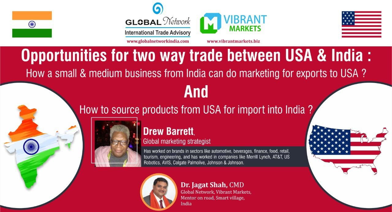 Two way trade between India & USA cover