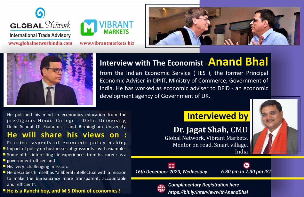 INTERVIEW WITH THE ECONOMIST ANAND BHAL cover