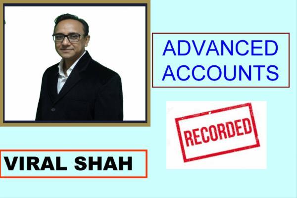 CA INTER - Advanced Accounts cover