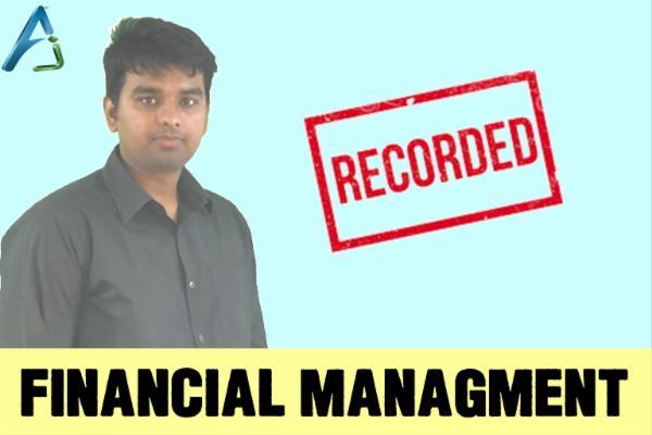 LIVE - CA INTER - FINANCIAL MANAGMENT cover