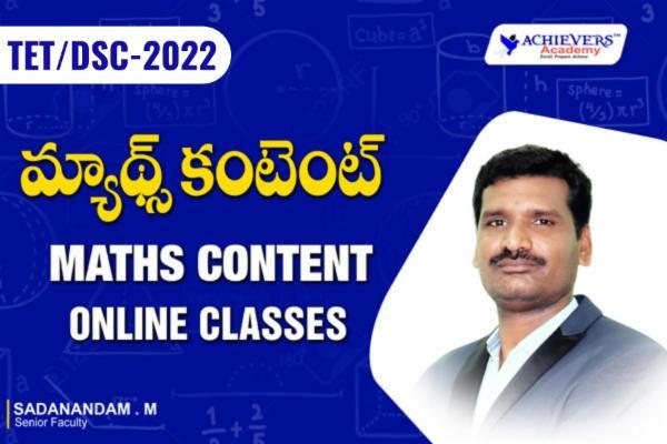 TET DSC Maths Content Online Classes cover