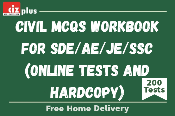 Civil MCQs Workbook for SDE/AE/JE/SSC (Online Tests And Hardcopy) cover
