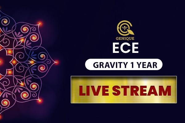 ECE GRAVITY LIVE STREAM 1 Year cover