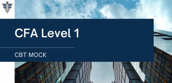 CFA Level 1 - CBT Mock cover