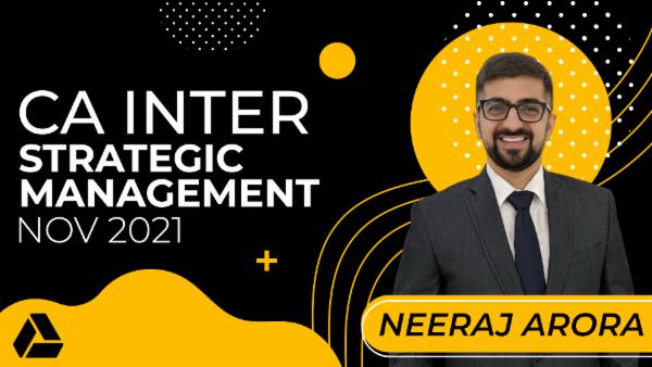 CA Inter Strategic Management for Nov 2021-Online Classes cover