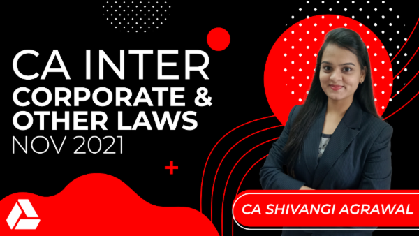 CA Inter Corporate & Other Laws for Nov 2021-Online Classes cover