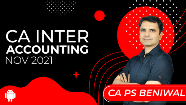 CA Inter Accounting for Nov 2021-Android App cover