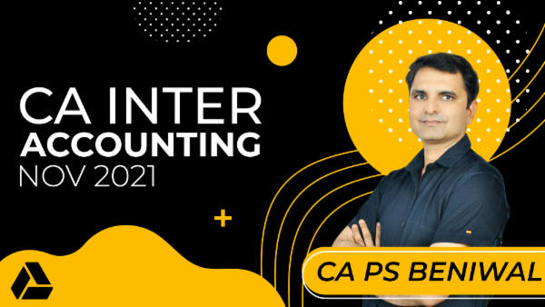 CA Inter Accounting for Nov 2021-Online Classes cover