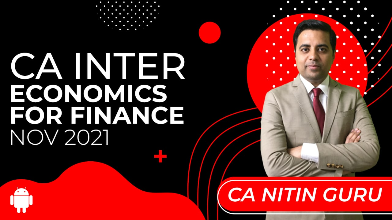 CA Inter Economics For Finance for Nov 2021-Android App cover