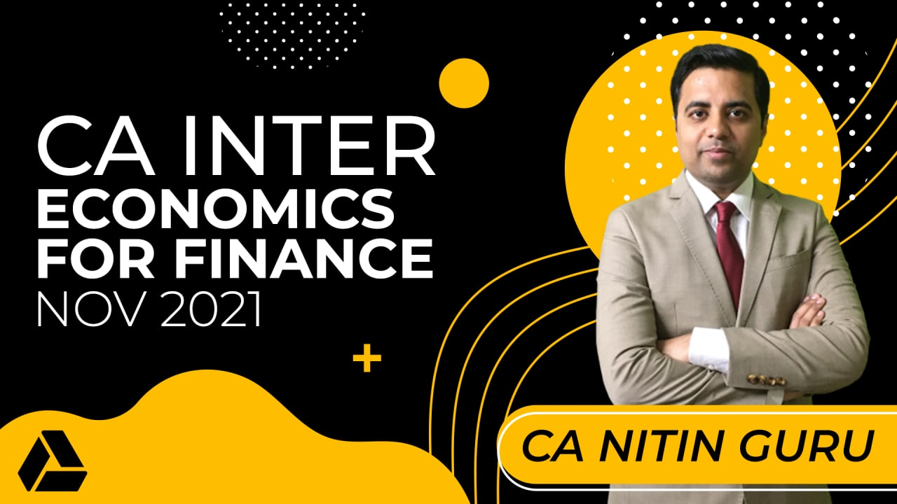 CA Inter Economics For Finance for Nov 2021-Online Classes cover