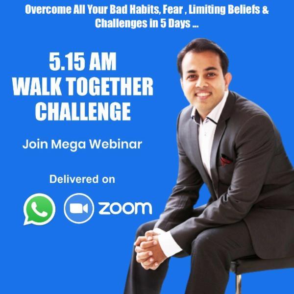 (Monthly Membership) Joyful 5:15AM Walk Together Challenge Zoom Webinar cover