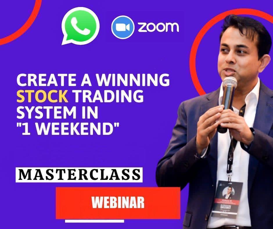 "(Live Webinar) Create A Winning Stock Trading System in ""1 Weekend"" cover"