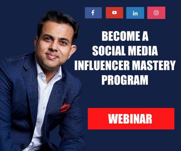 (Live Webinar) Become A Social Media Influencer Mastery Program cover