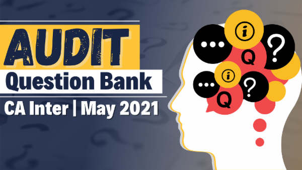 CA Inter Audit Question Bank for May 2021 cover