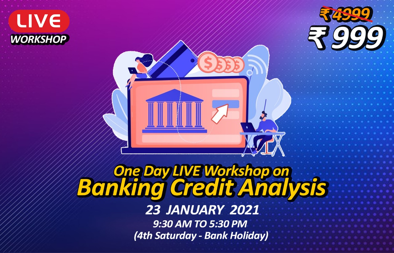 One Day LIVE Workshop on Banking Credit Analysis cover