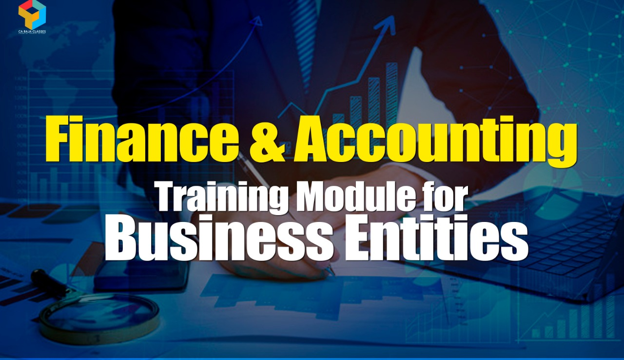 Finance & Accounting Training Module for Business Entities cover