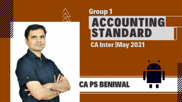 CA Inter Group 1 AS Classes - Android App - May 2021 cover