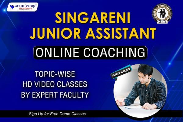 Singareni Junior Assistant Online Coaching Classes cover