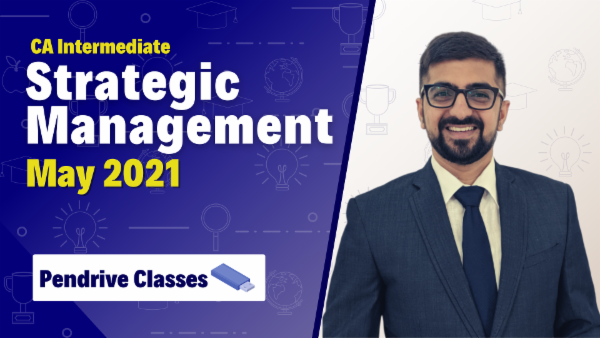 CA Inter Strategic Management Online Classes For May 2021 by Neeraj Arora - Pendrive Classes cover
