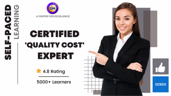 Certified Quality Cost Expert (COQ Expert) cover