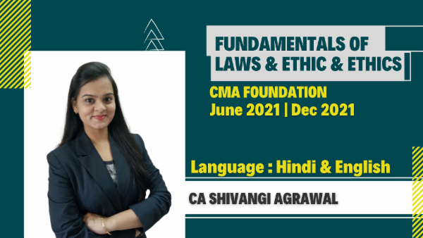 CMA Foundation Fundamentals of Laws & Ethics ForJune 2021 & Dec 2021 cover
