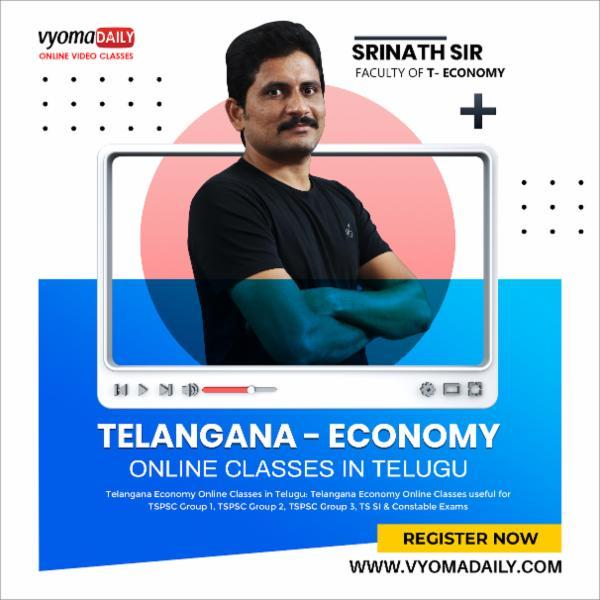 Telangana Economy Online Classes in Telugu cover