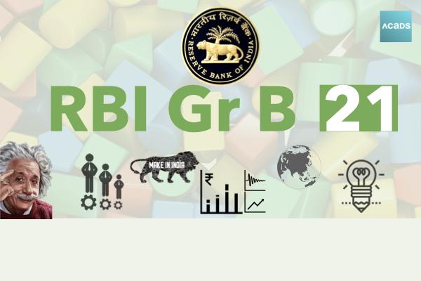 Acads AI RBI Grade B 2021 cover