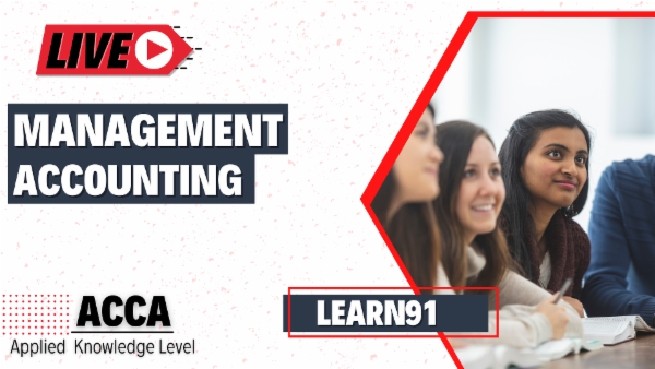 ACCA Management Accounting Live Sessions cover