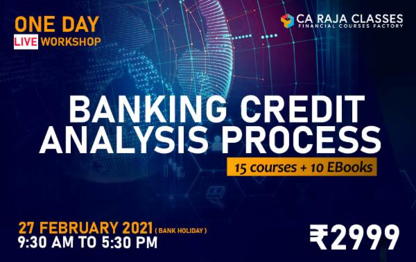 One Day LIVE Workshop on Banking Credit Analysis Process + 15 Courses cover