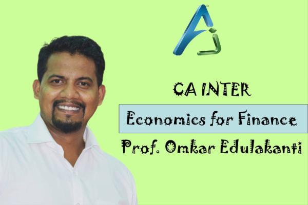 CA INTER - Economics for Finance cover