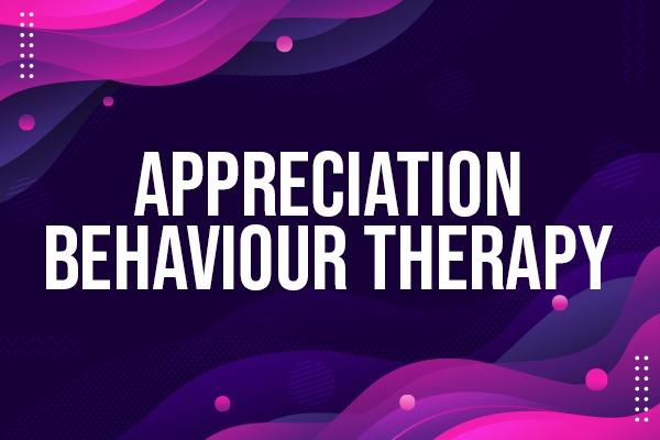 APPRECIATION BEHAVIOUR THERAPY cover
