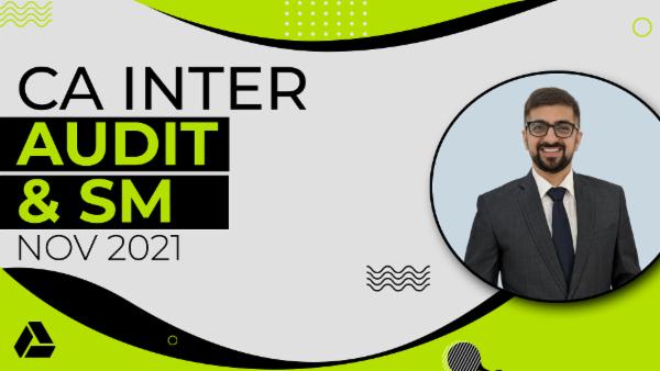 CA Inter Audit & SM Combo - Google Drive-Nov2021 cover