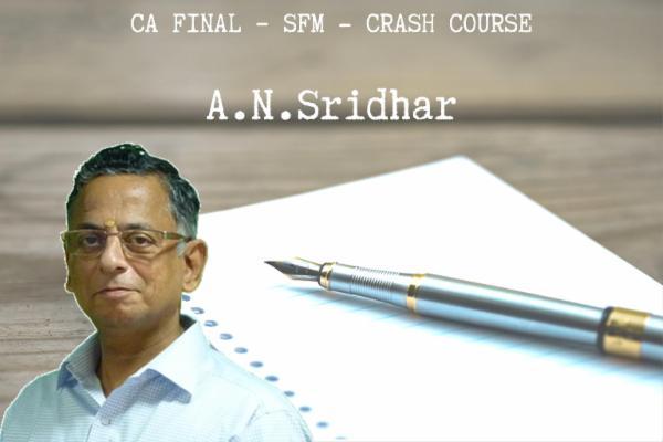 CA FINAL - SFM - Crash COurse cover