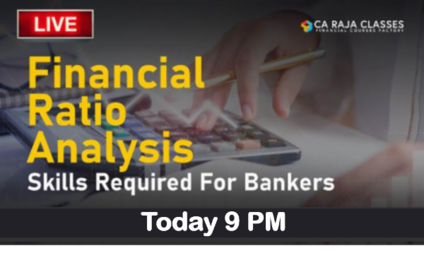 LIVE Webinar on Financial Ratio Analysis - Skills Required for Bankers cover