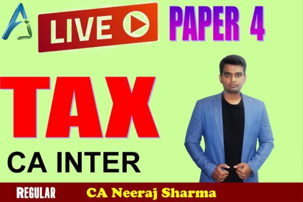 CA INTER - Taxation for Nov 2021 cover