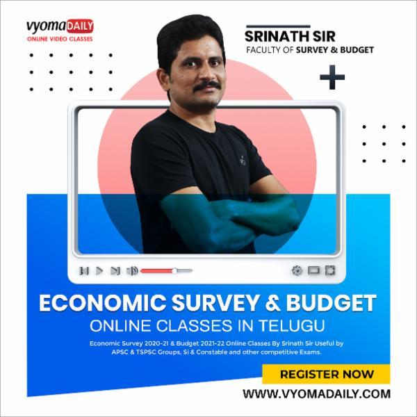 Economic Survey 2020-21 & Budget 2021-22 Online Classes By Srinath Sir cover