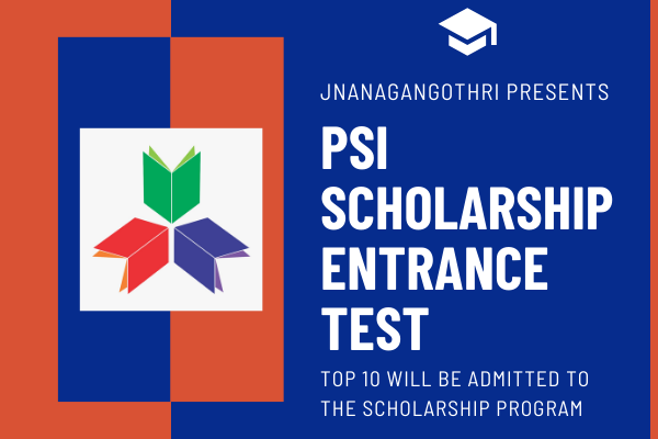 PSI SCHOLARSHIP ENTRANCE EXAM cover