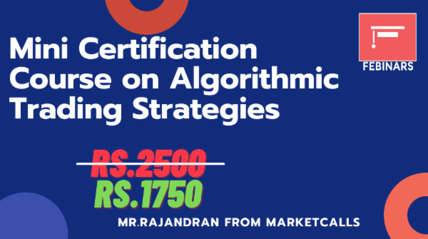Mini Certification Course on Algorithmic Trading Strategies cover